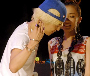 "G-Dragon and Dara say ""Hello"""