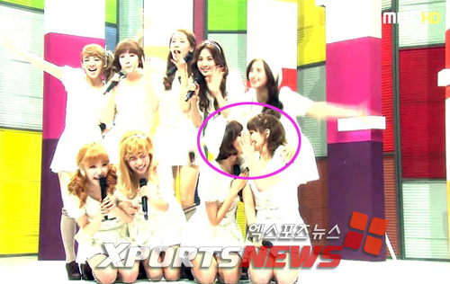 Taeyeon and Sooyoung only have lips for each other