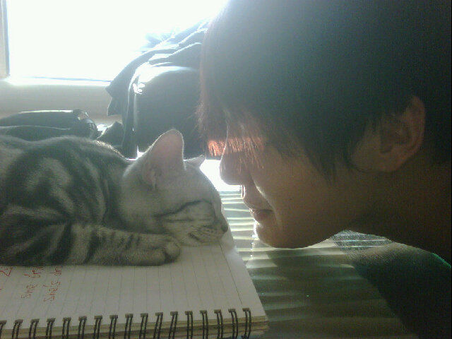 Bite: Junsu learns English, cat gets in the way