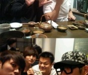 [Photo] JYP, Seulong, Jinwoon and Junsu walk into a sushi bar