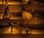 Lee Min-ho riding bikes on the Han River with...