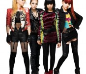 2ne1 all decked out in Adidas