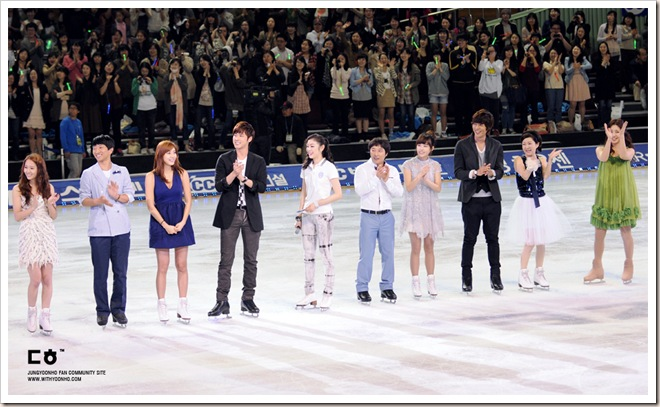 But why is Yunho moonwalking on ice?