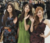 SNSD attend Burberry Prorsum's F/W 2012 Collection, London.