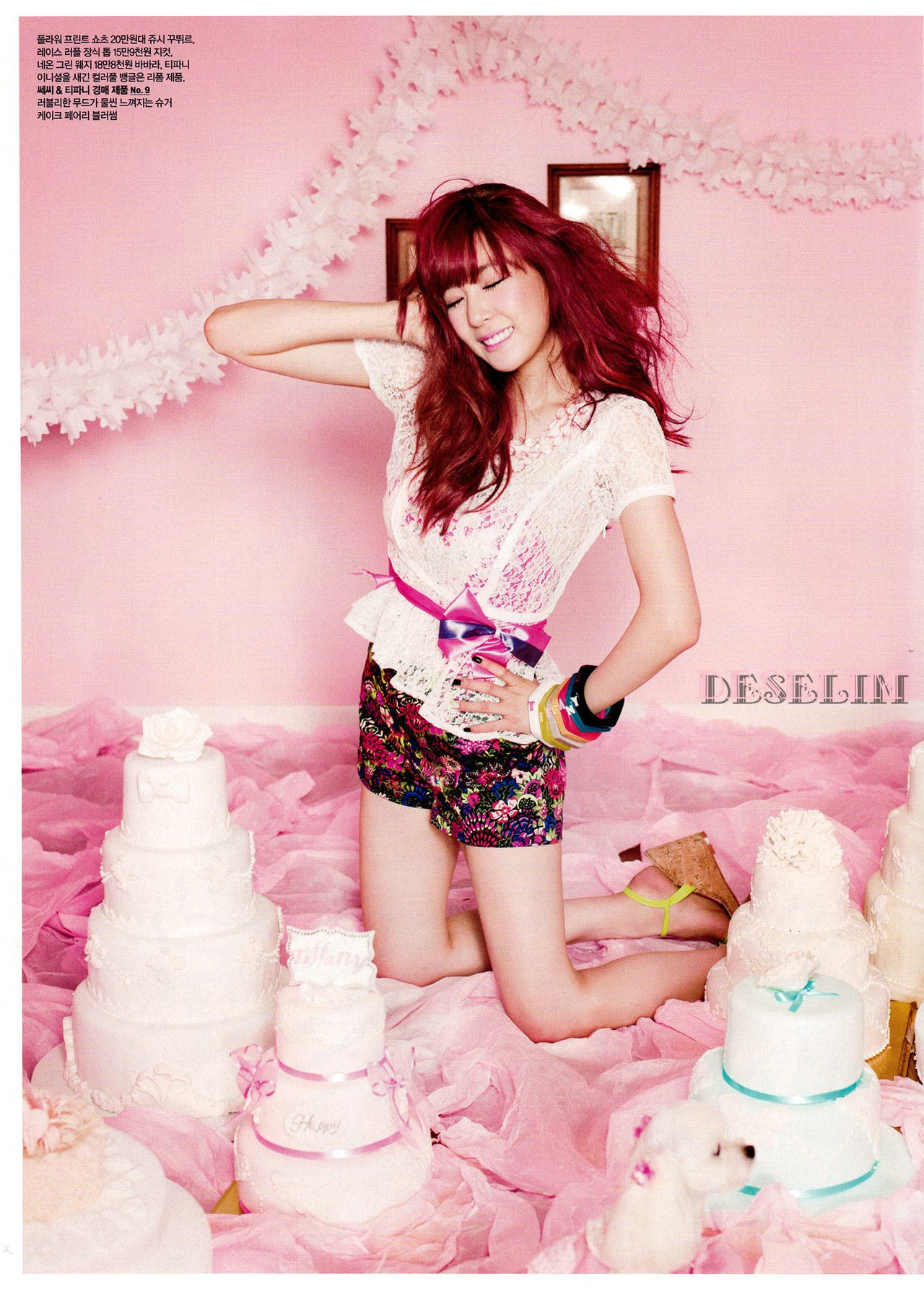 SNSD's Tiffany Is Pretty In Pink For Ceci Magazine
