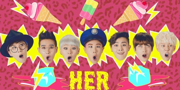 "Block B Gets Wild 'n' Crazy for ""Her"""