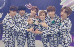 U-Kiss Gets Their First Music Show Win
